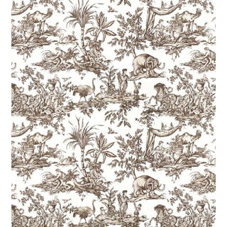 Antilles Toile Wallpaper by Anna French - Sample For Sale