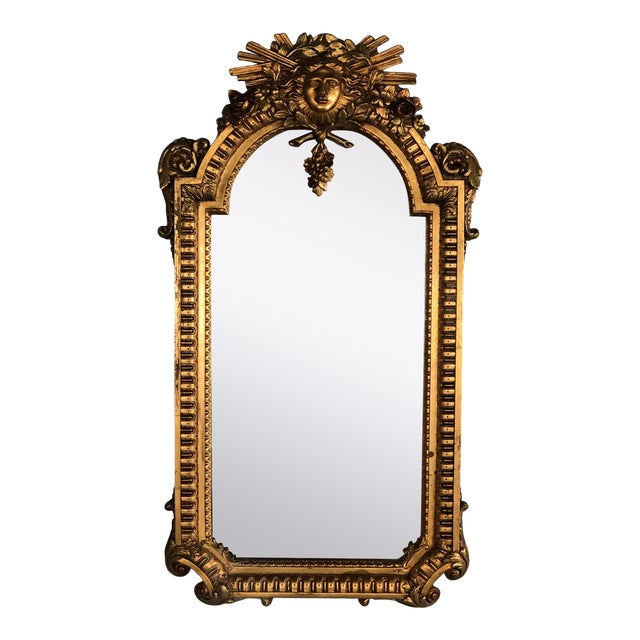 Early 20th Century Gold Leaf Mirror Made in Spain For Sale