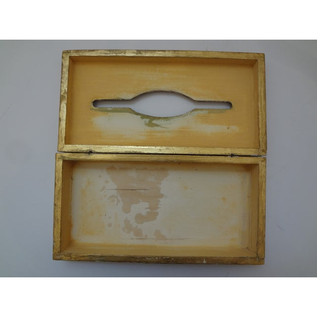 Vintage Florentine Gold Gilt Tissue Box For Sale In Phoenix - Image 6 of 9