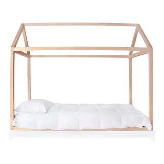 Nico & Yeye Domo Bed Canopy Twin Bed Maple without Rails For Sale