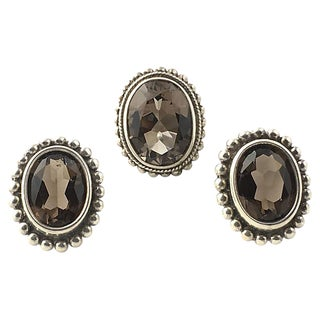 Stephen Dweck Topaz Earrings & Ring Set For Sale