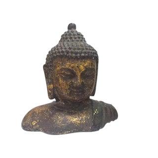 Antique Buddha Statue Cast Iron Buddha Bust