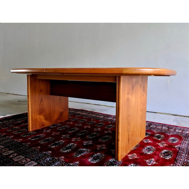 """1970s Danish Modern 110"""" Teak Dining Table For Sale In Dallas - Image 6 of 13"""