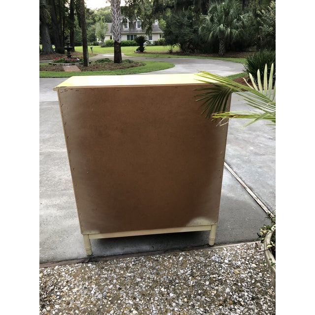 Stanley Yellow Faux Bamboo Dresser For Sale In Savannah - Image 6 of 13