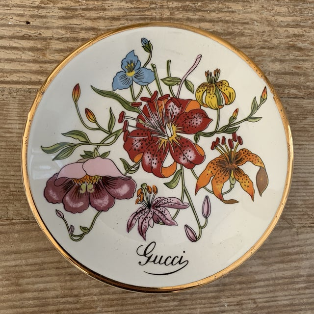 Vintage Gucci Accornero Floral Catchall Ashtray For Sale In New York - Image 6 of 6
