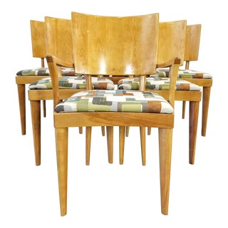 Set of Six M155 Series Heywood-Wakefield Stingray Dining Chairs Dated April 1949 For Sale
