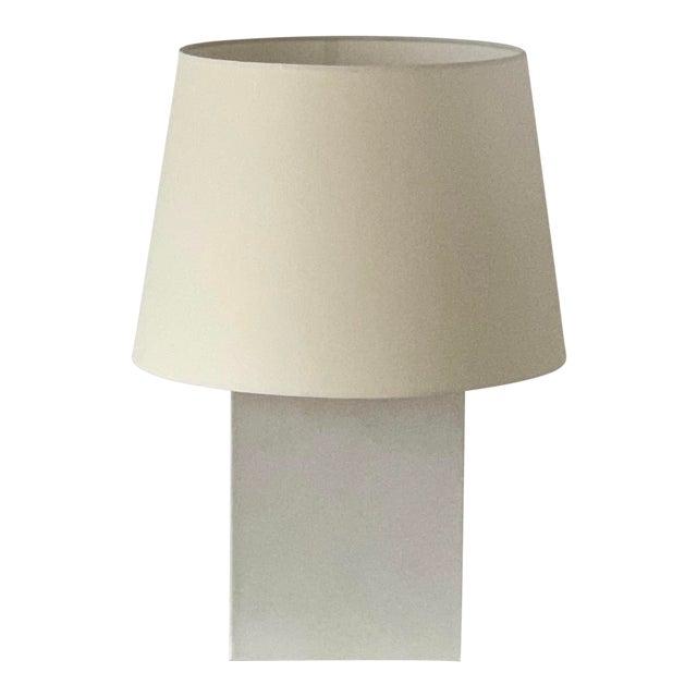 Large 'Bloc' Parchment Table Lamp by Design Frères For Sale