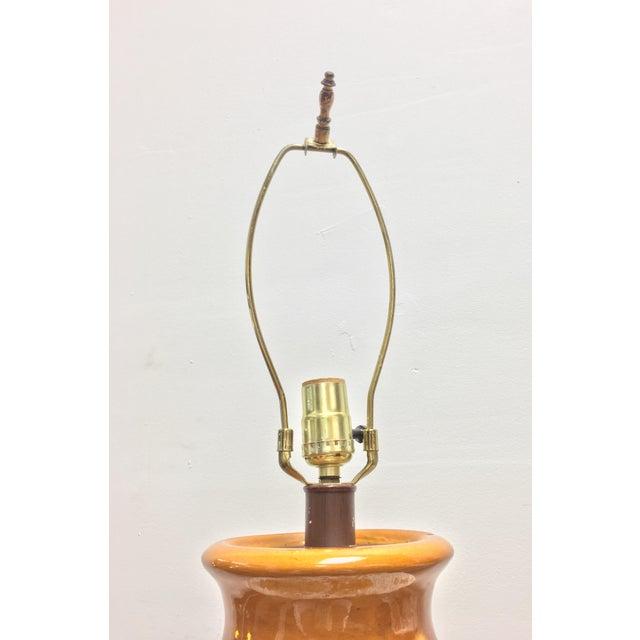 Mid Century Large Lava Glaze Lamps - Pair - Image 5 of 5