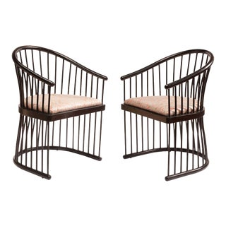 "Jack Lenor Larson ""Cage"" Armchairs - A Pair For Sale"