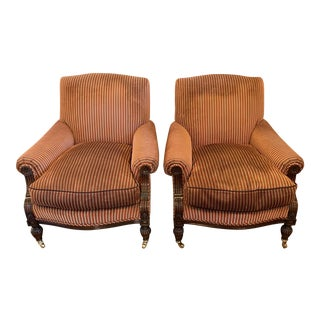 Mike Bell Slipper Chairs With Casters - a Pair For Sale