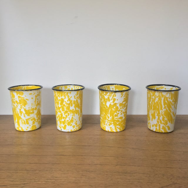 Vintage Yellow Enamelware - Set of 15 For Sale In Providence - Image 6 of 10