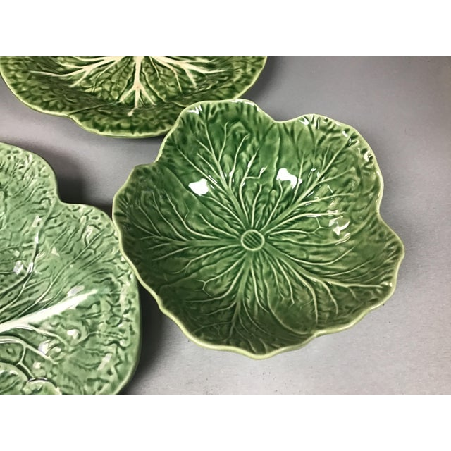 Mid 20th Century 5 Vintage Pieces of Bordallo Pinheiro Cabbage Design For Sale - Image 5 of 9