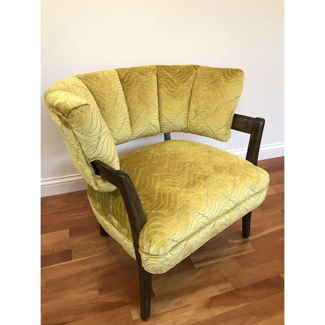 1940s Vintage Billy Haines Era Channel Back Chair For Sale - Image 9 of 12
