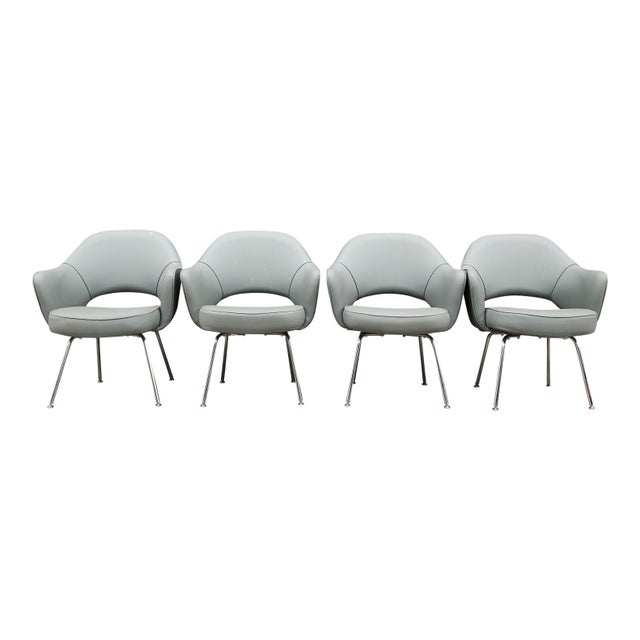 1960s Mid-Century Modern Eero Saarinen for Knoll Executive Chairs (11 Avail) For Sale In New York - Image 6 of 6