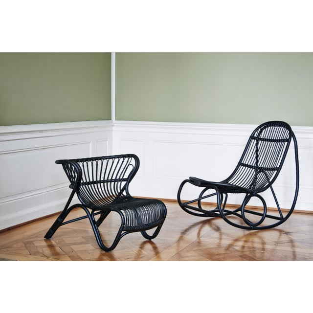 Nanna and Jørgen Ditzel Nanna Ditzel Nanny Rocking Chair - Black For Sale - Image 4 of 6