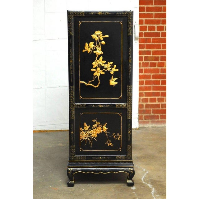 Chinese Export Gilt Lacquered Cabinet on Stand For Sale - Image 9 of 11