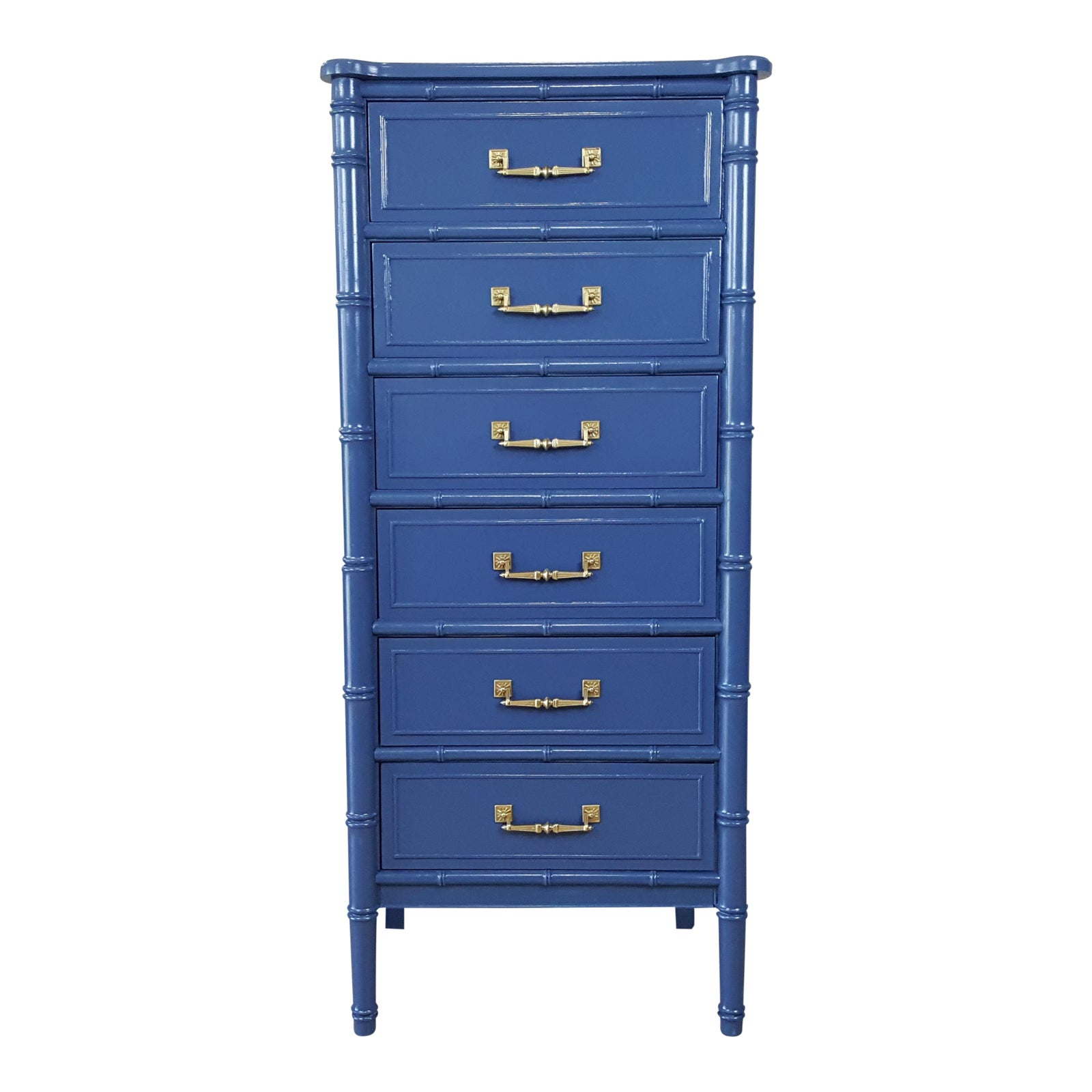 Henry link bali blue faux bamboo chest of drawers lingerie chest chairish
