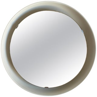 Rare Illuminated Metal Mirror by Arne Jacobsen for Louis Poulsen For Sale