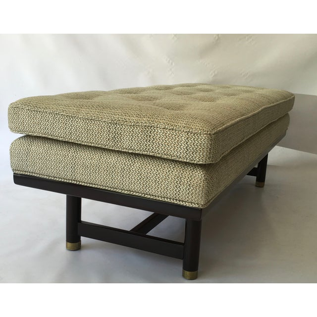 Mid-Century Modern Tufted Walnut Bench - Image 4 of 10