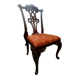 Henredon Furniture Aston Court Carved Mahogany Formal Dining Side Chair For Sale