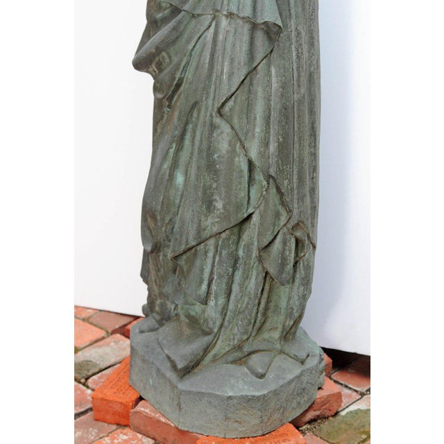 Mid 20th Century Bronze Female Statue For Sale - Image 5 of 13