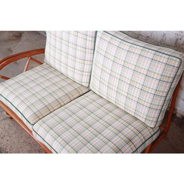 Heywood Wakefield Hollywood Regency Mid-Century Modern Rattan Sofa For Sale In South Bend - Image 6 of 13
