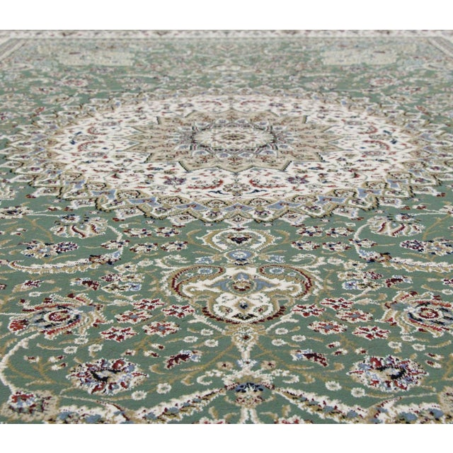 Traditional Medallion Green Rug - 5′3″ × 7′4″ - Image 4 of 8
