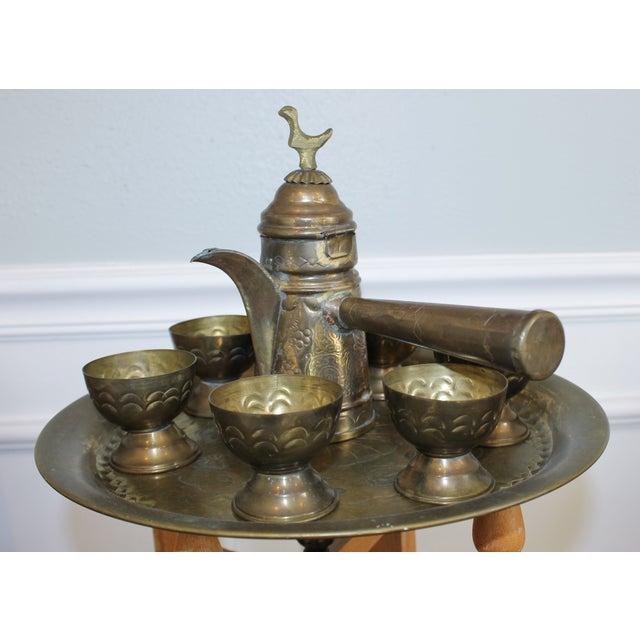 Vintage Brass Turkish Coffee Set - Image 5 of 5