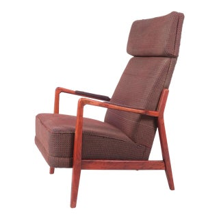 Plaid Folke Ohlsson Lounge Chair for Duxello For Sale