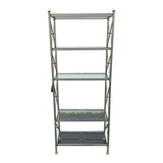 La Barge Brass and Chrome Etagere For Sale