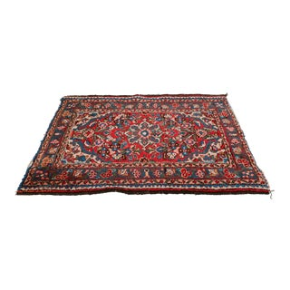 1960s Vintage Hand Knotted Wool Rug- 2′2″ × 3′2″ For Sale