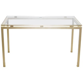 Brass Desk by Guy Lefevre for Maison Jansen, 1970s For Sale