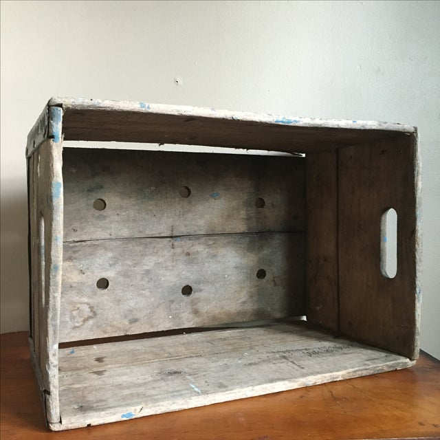 Antique Wooden Borden's NY Milk Crate For Sale - Image 7 of 7