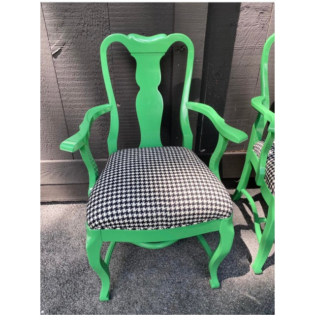 Lacquered Dining Chairs - Set of 6 For Sale - Image 11 of 12