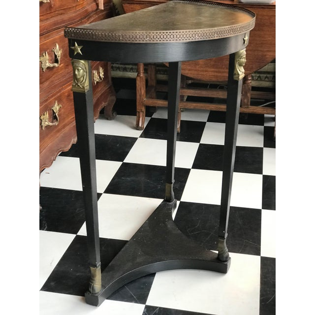 1920s 1920s French Empire Demi-Lune Table For Sale - Image 5 of 8