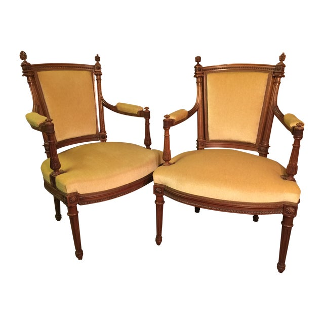 Louis XVI Style Armchairs - A Pair - Image 1 of 10