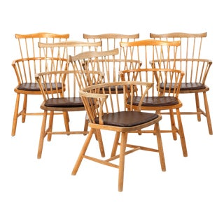 Windsor Armchairs by Børge Mogensen - Set of 6 For Sale