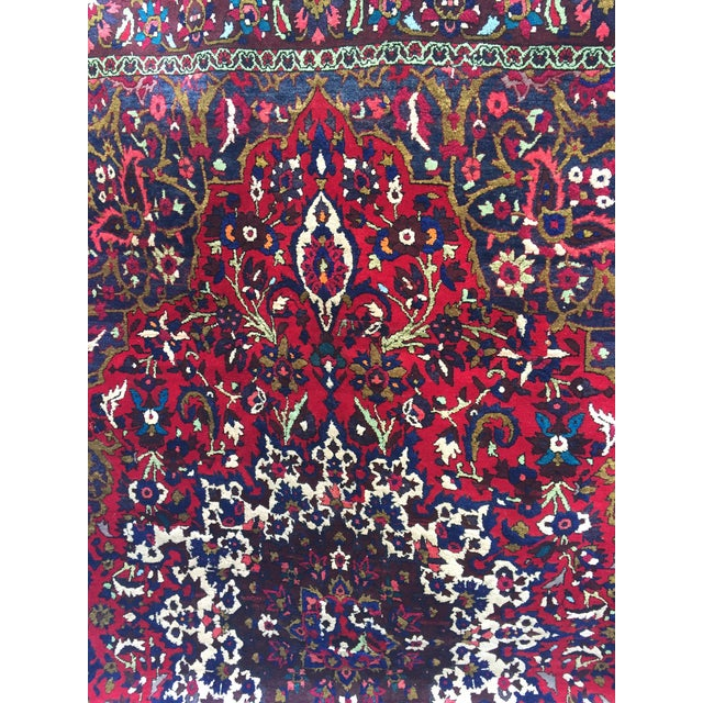 "Vintage Persian Rug 6'11"" X 7'11"" - Image 3 of 7"