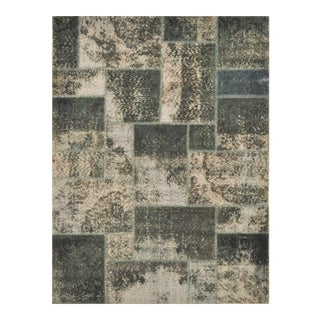 Turkish Over-Dyed Distressed Patchwork Area Rug - 6' X 8'