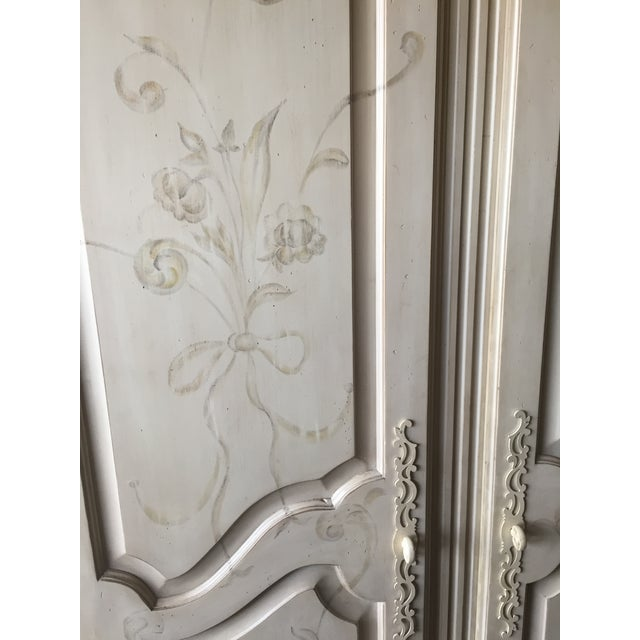 Ethan Allen Ethan Allen Hand Painted Maison Armoire For Sale - Image 4 of 5