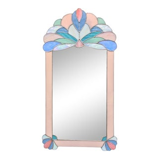 Pretty Pink Stained Glass Mirror