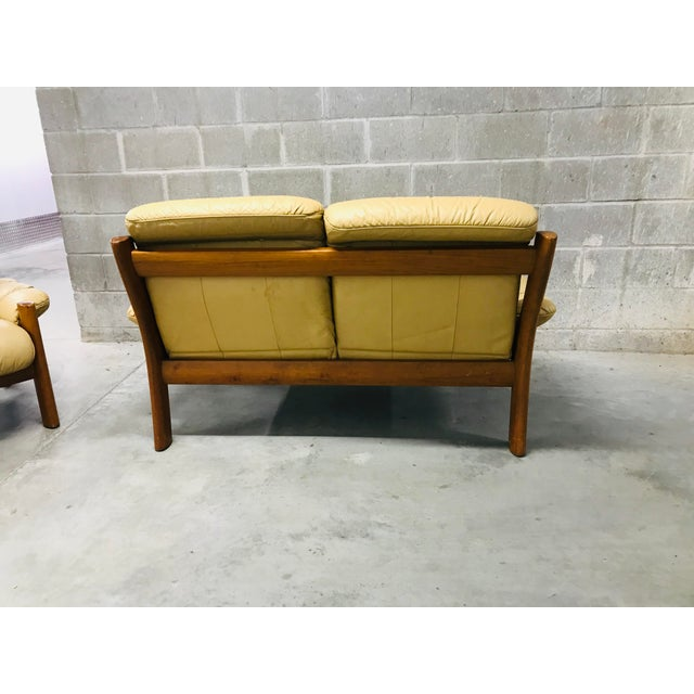 1970s Vintage Ekornes Stressless Montana Solid Teak Loveseat and Sofa - 2 Pieces For Sale - Image 10 of 13