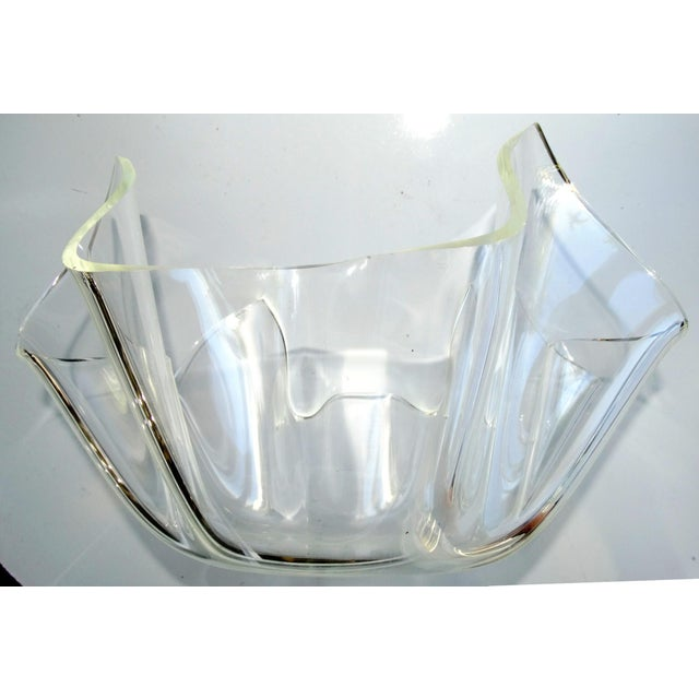 Mid-Century Modern Lucite Handkerchief Bowl - Image 3 of 9