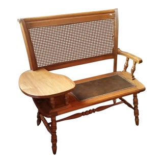 Vintage Solid Maple Telephone Bench For Sale