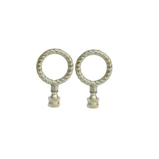 Brass Rope Lamp Finials, a Pair For Sale