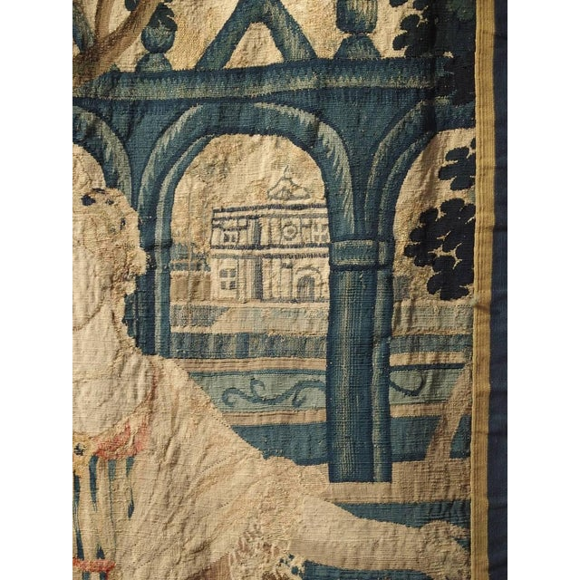 17th Century Park Scene Tapestry From France For Sale - Image 10 of 13
