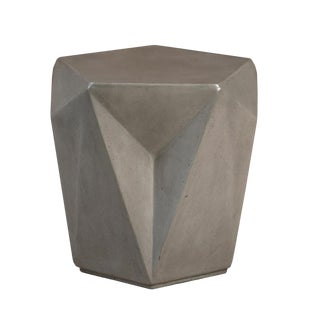 Finn Grey Concrete Side Table For Sale