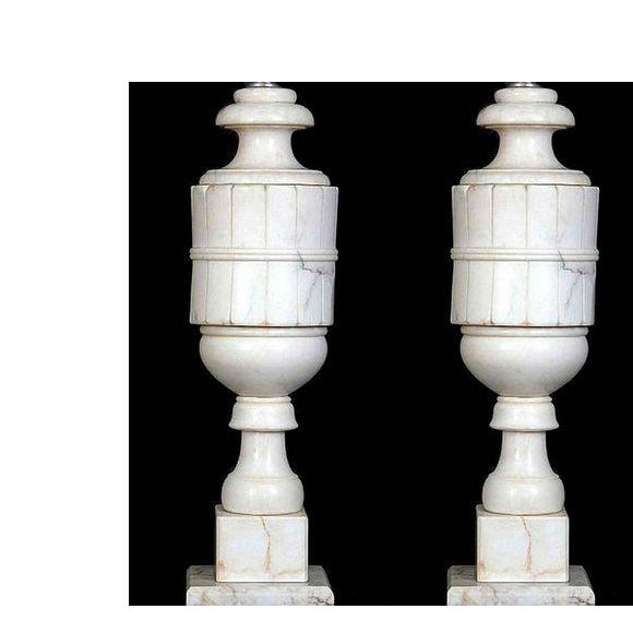 Art Deco 1920s Art Deco Alabaster Table Lamps - a Pair For Sale - Image 3 of 3