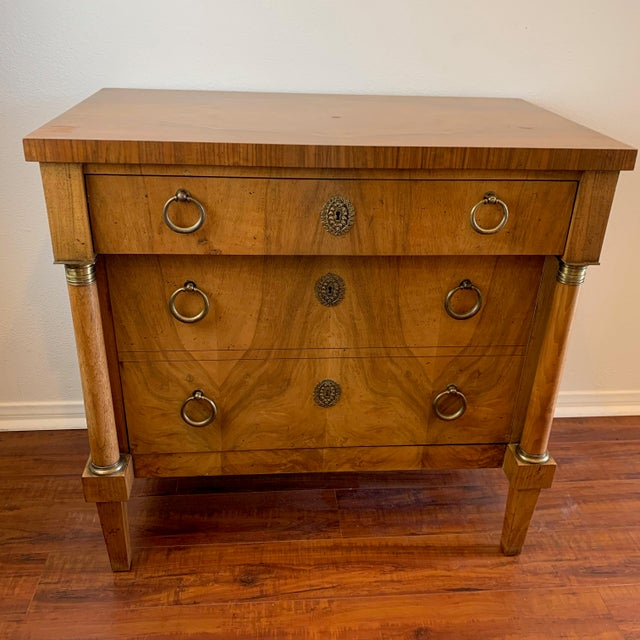 Vintage Baker French Empire Neoclassical Style Chest of Drawers For Sale - Image 13 of 13