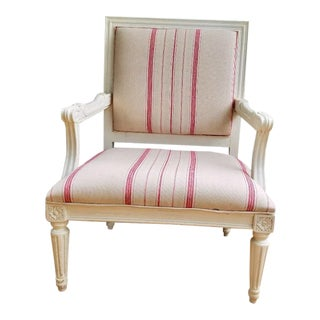 Pottery Barn Upholstered Arm Chair For Sale